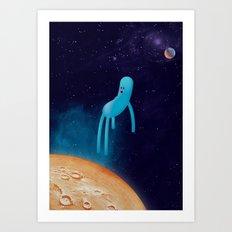 b l u Art Print