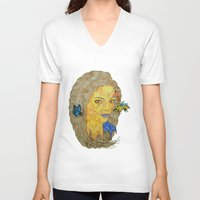 lorde V-neck T-shirts featuring Lorde by Montana