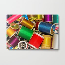 Sewing Thread Metal Print