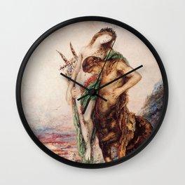 "Odilon Redon ""Dead poet borne by centaur"" Wall Clock"