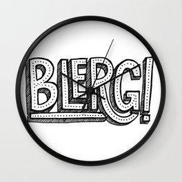 Blerg! Wall Clock