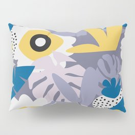 Purple botany with funny strawberries Pillow Sham