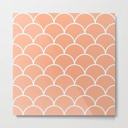 Pink scales pattern Metal Print