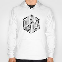 hexagon Hoodies featuring Hexagon monochrome by eDrawings38