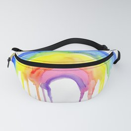 Rainbow Watercolor Dripping Colors Fanny Pack