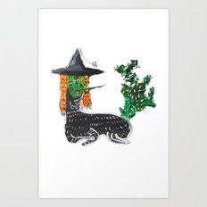 BRUJA DE NOPALES/CACTUS WITCH Art Print