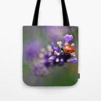 ladybug Tote Bags featuring Ladybug by Nathalie Photos
