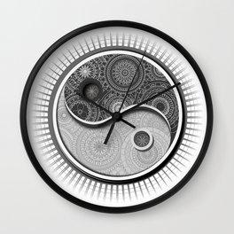 Jing Jang Mandala Wall Clock