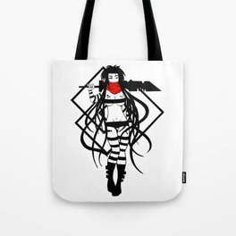 Cyber - Black and White Tote Bag