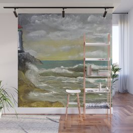 Lighthouse and the Sea Wall Mural
