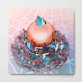 Crystal Coating Metal Print