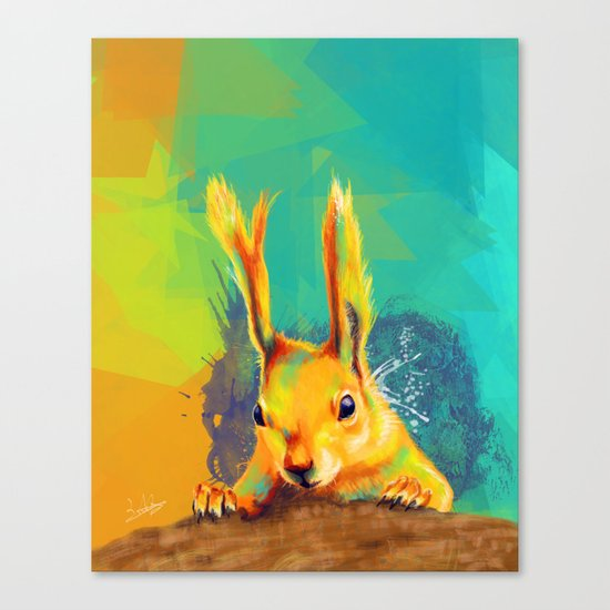 Tassel-eared Squirrel Canvas Print