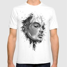 look White SMALL Mens Fitted Tee