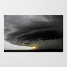 Storm Grows North of Bismarck North Dakota Canvas Print