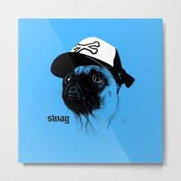 Pug Swag Metal Print