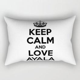 Keep calm and love AYALA Rectangular Pillow