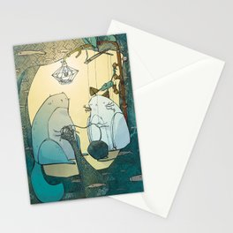 Knitting Cats Stationery Cards