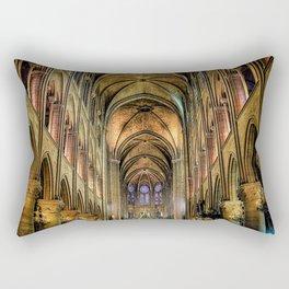 Notre Dame de Paris interior Rectangular Pillow