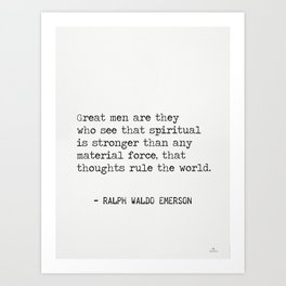 RALPH WALDO EMERSON QUOTES 11 Art Print