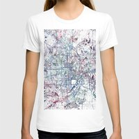 minneapolis T-shirts featuring Minneapolis map by MapMapMaps.Watercolors