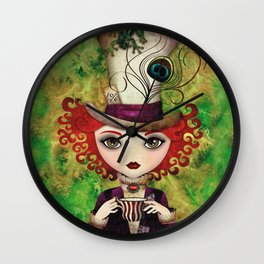 Lady Hatter Wall Clock