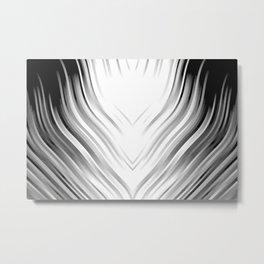 stripes wave pattern 3 bwi Metal Print