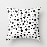 sansa stark Throw Pillows featuring Stark Stars by SonyaDeHart