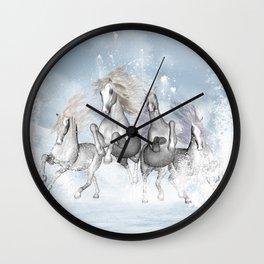 Awesome running horses Wall Clock