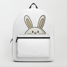 I Love Easter Eastern Bunny rabbit present gift Backpack