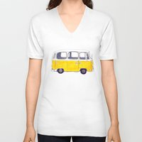 you are my sunshine V-neck T-shirts featuring You are my sunshine by Bridget Davidson