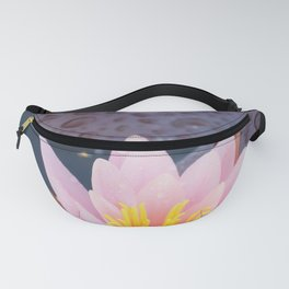 Pink water lily flower Fanny Pack