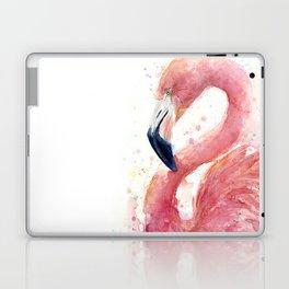 Pink Flamingo Watercolor Laptop & iPad Skin