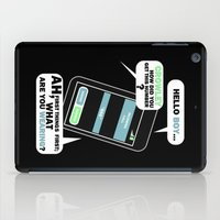 crowley iPad Cases featuring What are you Wearing? - Crowley Supernatural by KanaHyde