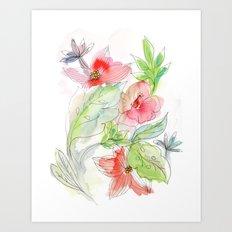 My tropical flowers Art Print