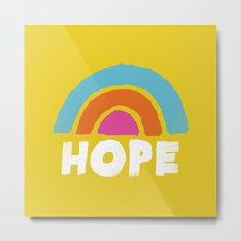 hope rainbow Metal Print