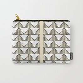 Audrey and Frank - Modern Envelopes Stripe (Neutral) Carry-All Pouch