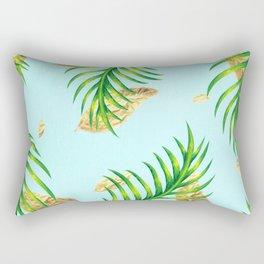 Golden Palms Rectangular Pillow