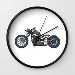 custom motorcycle Wall Clock