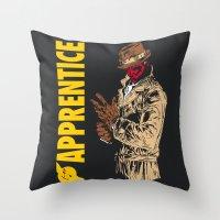 watchmen Throw Pillows featuring Darth Rorschach  (Watchmen/Star Wars mashup) by Pixhunter