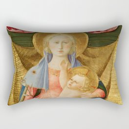 The Madonna of Humility with Two Musician Angels Rectangular Pillow