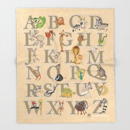 ABC Animals Throw Blanket