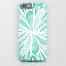 Symmetrical drops - aqua iPhone Case