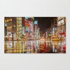 Tokyo In Art Canvas Print