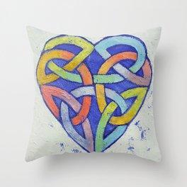 Endless Rainbow Throw Pillow