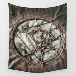 Woven Threads . Dream Catcher Wall Tapestry