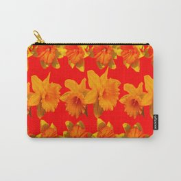 CHINESE RED GOLDEN DAFFODILS GARDEN ART DESIGN Carry-All Pouch