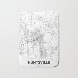 Minimal City Maps - Map Of Huntsville, Alabama, United States Bath Mat