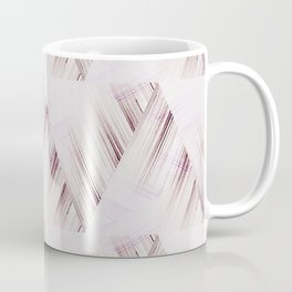 Abstract geometric pattern.Pinkish beige striped triangles . Coffee Mug