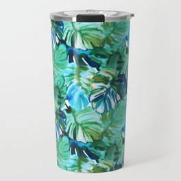 Palm Leaf Green Travel Mug