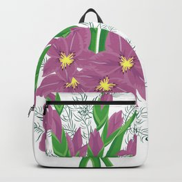 Bouquet of lilac gladioluses Backpack